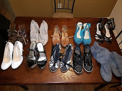 Lot of 10 Pairs of Women's Shoes Heels Dress Shoes