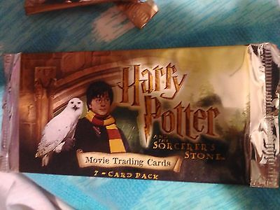 Nrfp! Harry Potter Movie Trading Cards! U.s. Sorcerer's Stone! 7 Card Pack!look!