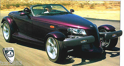 1997 PLYMOUTH PROWLER SPEC SHEET/Brochure/Catalog