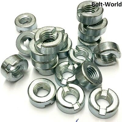 Slotted Round Nuts Free Cutting Steel Bright Zinc Plated Metric Thread Din 546