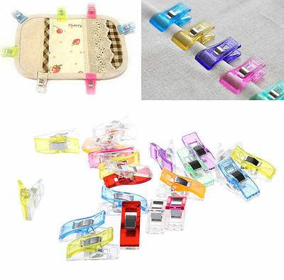20X Plastic Clip Clamps Fr Patchwork Sewing Quilt Clip Tools Food Bag Clips New