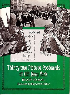 Thirty-Two Postcard Booklet RPPC's of Old New York depicting 1868-1928