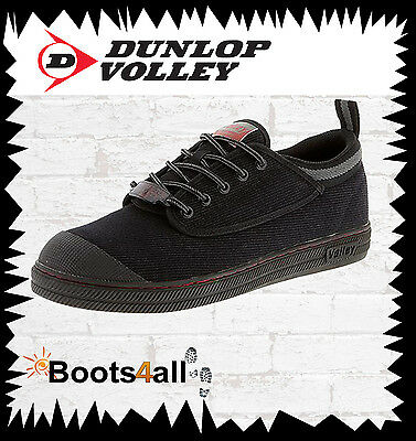 Dunlop Volley Original Black Classic Work Boots. Safety Steel Toe Cap