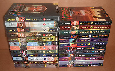 Lot of 24 Warriors Books by Erin Hunter Paperback NEW