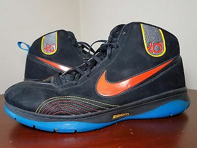 designer fashion f2ff4 008c9 Nike KD 1 Okc Black Orange Royal sz 12 Used Rare 344472-081 Photo Thunder