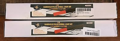 TWO New Traffic Safety Rescue Signal LED Road Control Flashing Light Wand Batons