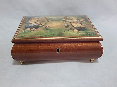 Large Wood Music Jewelry Box MJ Hummel Made in Italy Sorrento