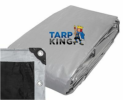 3.5m x 5.3m Heavy Duty Poly Tarp - Waterproof Outdoor Camping Tarpaulin Cover