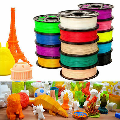 3D Printer Filament 1KG 1.75mm ABS/PLA Print Material 10+ Colors NEW