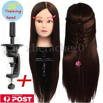 AU 26''  Hair Hairdressing Training Head Practice Mannequin Doll With Clamp