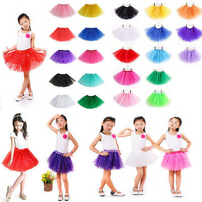 Girls Bling Ballet Tutu Princess Dress Up Dance Wear Costume Party Kids Skirt