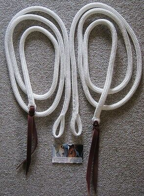 8ft Rope Split Reins with Loop, Campdrafting, Sporting, Western Riding, Reining