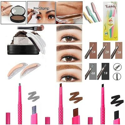Eyebrow Powder Makeup Brow Stamp Palette Delicated Shadow Definition Eyebrow Pen
