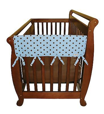 Trend Lab Cotton CribWrap Wide Rail Covers for Crib Sides (Set of 2) Blue Max...