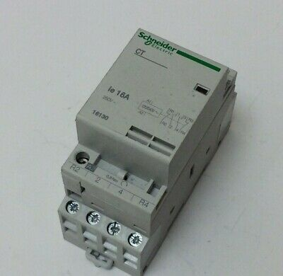 Schneider Contactor 16 Amp 3 Pole N/o Contacts 230V Coil 16120 To Clear (S9)