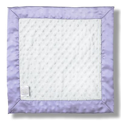 SwaddleDesigns Baby Lovie Plush Dots Security Blankie with Color Trim Lavender