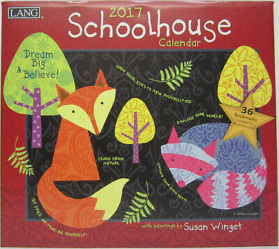 2017 Lang Wall Calendar Schoolhouse by Susan Winget Fits Timber Frame