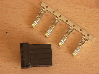 Harley Davidson OEM Amp/Tyco 4 wire Multi-lock MALE Connector & Terminals