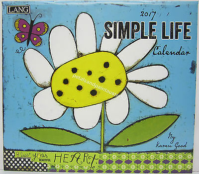 2017 Lang Wall Calendar Simple Life by Karen Good Fits Timber Frame