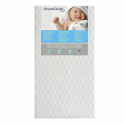 Dream On Me Full Size Firm Foam Crib and Toddler Bed Mattress Carousel 6-Inch