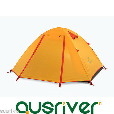 2 Person Lightweight Water-Resistant Camping Tent Hiking Cycling Double Layers