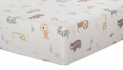 Trend Lab Deluxe Flannel Fitted Crib Sheet Crayon Jungle
