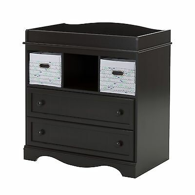 South Shore Furniture Savannah Changing Table with 2 Nursery Baskets Espresso