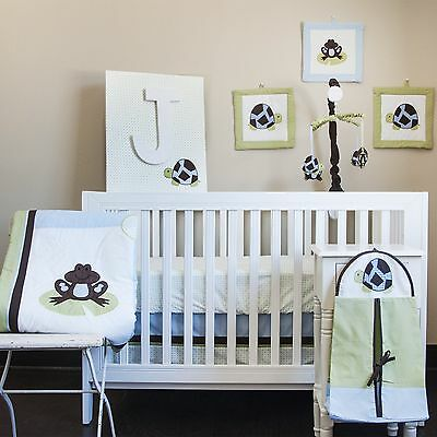 Pam Grace Creations 10 Piece Crib Bedding Set Mr. & Mrs. Pond