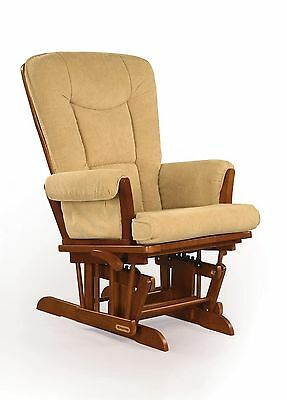 Shermag Glider Rocker Chablis with Camel Micro Fabric