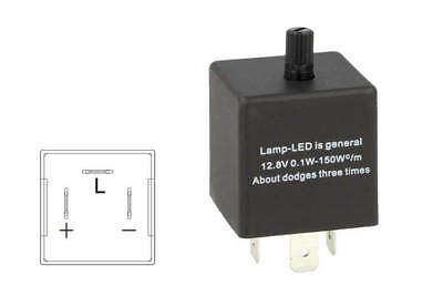 A2Zworld Flasher Led Lampeggiatore Rele Relay Frequenza Regolabile 3 Pin 12V Cf1