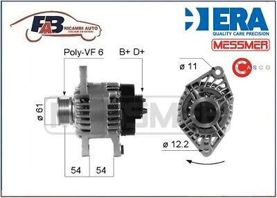 Alternatore Alfa Romeo 147 - 156 1.9 / 2.4 Jtd 14V 100A - 210263