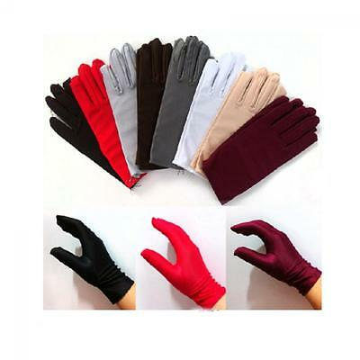 Prom Costume Dance Wedding Wrist Gloves Short