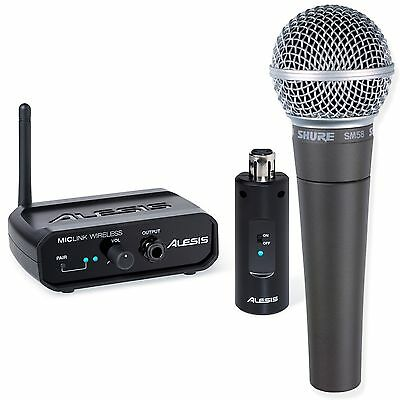 Shure SM58 Mic And Alesis Miclink Wireless Digital Wireless Microphone System