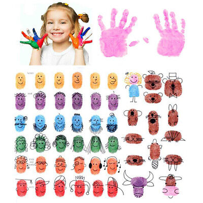 Ink Pad for Teacher Comments Stamp Craft Wood Fabric Kids Finger Paint 9 Colors