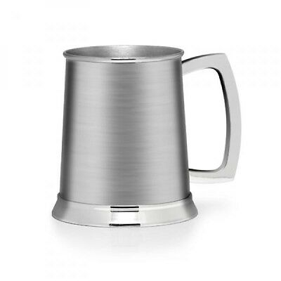 Brushed Finish Stainless Steel Tankard 1 Pint - suitable for engraving