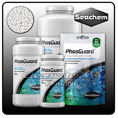 Seachem PhosGuard PHOSPHATE SILICATE REMOVER Aquarium FILTER MEDIA Fish Tank New