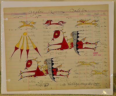Sunshine Day/Native American Ledger Art by Lakota Artist Sonja Holy Eagle