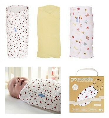 Gro Swaddle Baby Swaddling Blanket 100% Cotton Boy & Girl Infant Soothing Wrap