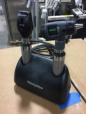Welch Allyn Desk Set w/ handles Macroview Otoscope & Coaxial Opthalmoscope