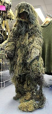 BRITISH ARMY SAS STYLE CHILDRENS GHILLIE SUIT in WOODLAND CAMO SIZE KIDS S/M