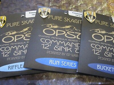 OPST Pure Skagit Commando Sink Tips, Bucket, Run & Riffle Series 96 132 & 168 gr
