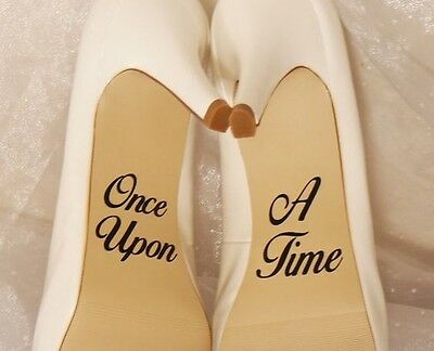 Sticker autocollant chaussure shoes mariage cérémonie wedding Once Upon A Time