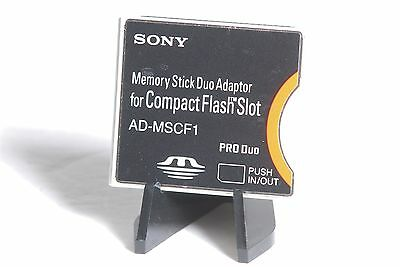 Sony Memory Stick Pro Duo To CF Compact Flash Card Adapter AD-MSCF1