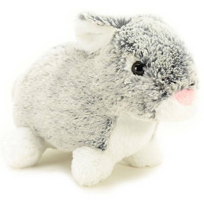 Crouching super-soft Plush Ester Bunny rabbit Home Decor Children toy Gift -Gray