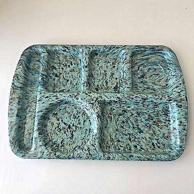 Prolon Ware School Lunch Tray Melmac Melamine Speckled Vintage New Turquoise