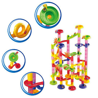 105pcs Marble Run Race Set Building Block Construction Game Glass Marbles Toy