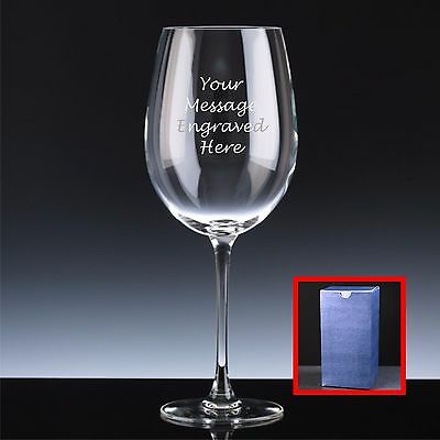 Personalised Engraved Giant Wine Glass, 75cl Mother's Day, Lovely Gift For Mum
