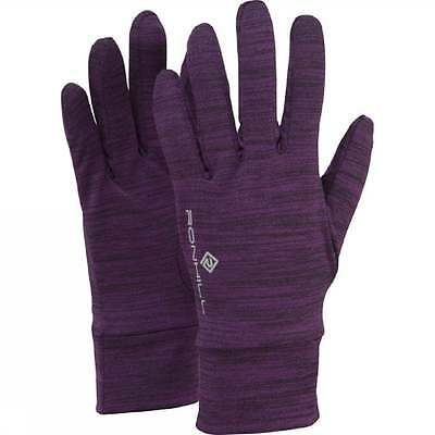 Ronhill Victory Thermal Fast Wicking Running Gloves Elderberry/Marl  *NEW*