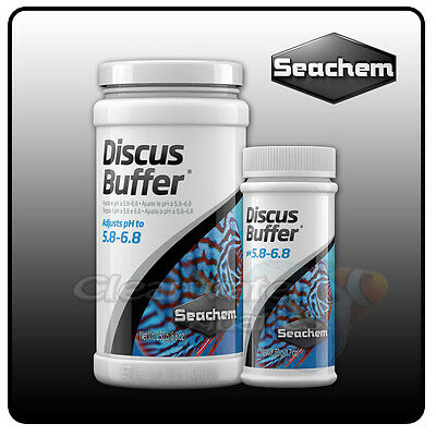 Seachem Discus Buffer Low pH GH AQUARIUM WATER SOFTENER Fish Tank Conditioner