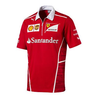 Scuderia Ferrari F1 Official Men's Team Polo Shirt - 2017